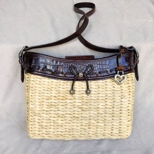 Brighton Woven Basket Leather Shoulder Bag
